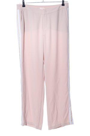 talk about Pantalone jersey rosa motivo a righe stile casual