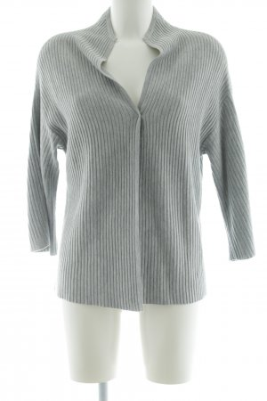 talk about Strick Cardigan hellgrau meliert Casual-Look