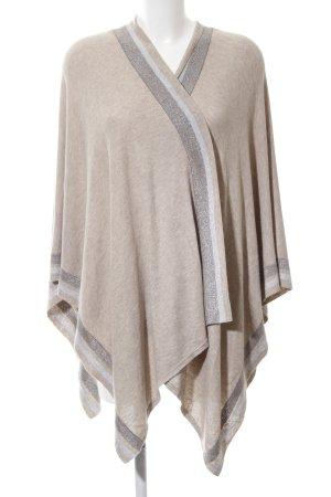 talk about Poncho en tricot motif rayé style décontracté