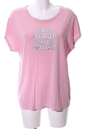 talk about T-Shirt pink Schriftzug gedruckt Casual-Look