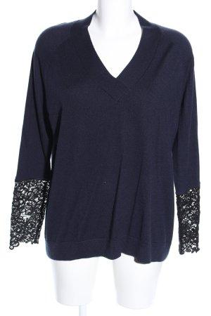talk about V-Ausschnitt-Pullover blau Casual-Look