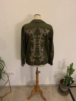 Talkabout Fieldjacket khaki mit Stickerrei am RT