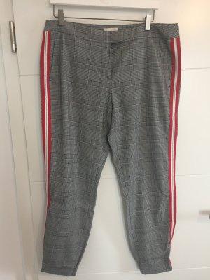 TALKABOUT Glenchcheck Hose mit roten/weißen Gallonstreifen