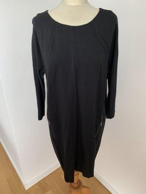 Talkabout Jersey Interlock Kleid in schwarz