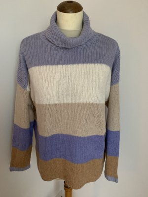 talk about Coarse Knitted Sweater grey violet-oatmeal