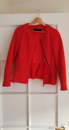 Zara Tweed Blazer red