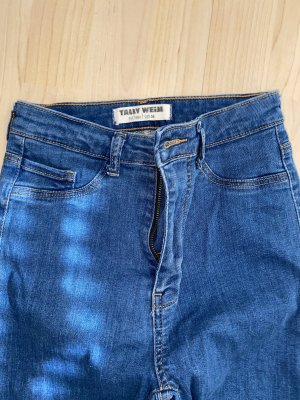 Tally Weijl Pantalon taille haute bleu