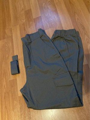 Tally Weijl Pantalon taille haute gris vert