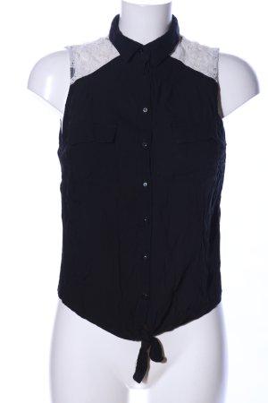 Tally Weijl ärmellose Bluse schwarz-weiß Business-Look