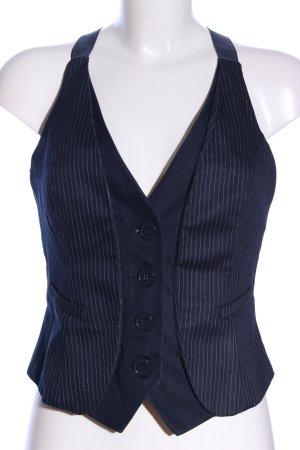 Tally Weijl Anzugweste blau Streifenmuster Business-Look