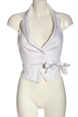 Tally Weijl Chaleco de vestir blanco look casual