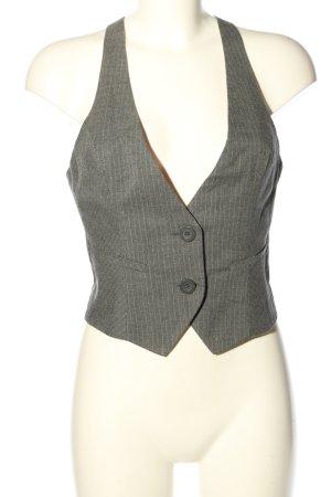 Tally Weijl Chaleco de vestir gris claro estampado a rayas estilo «business»