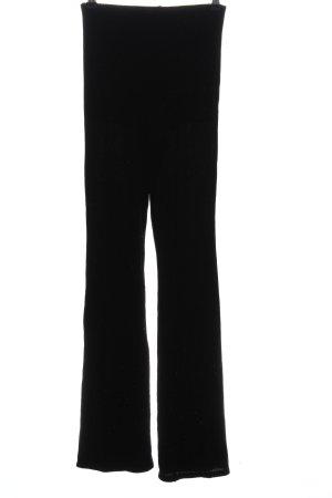Tally Weijl Baggy Pants schwarz Glanz-Optik
