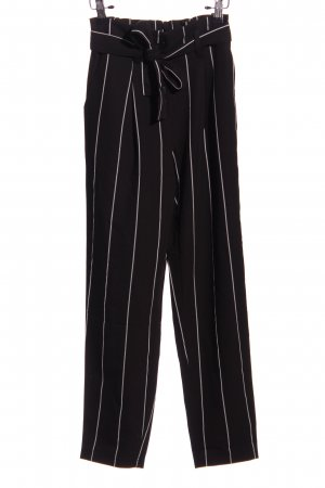 Tally Weijl Baggy Pants schwarz-weiß Streifenmuster Business-Look