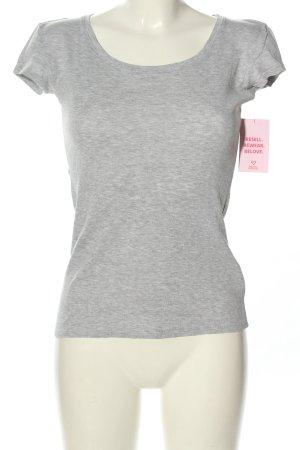 Tally Weijl Basic-Shirt hellgrau meliert Casual-Look