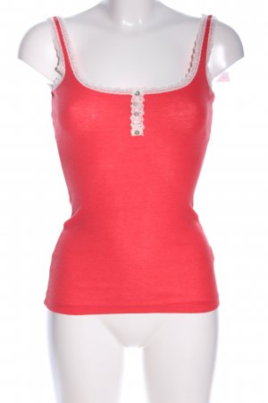Tally Weijl Basic topje rood-wolwit casual uitstraling