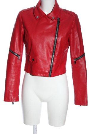 Tally Weijl Veste motard rouge style décontracté