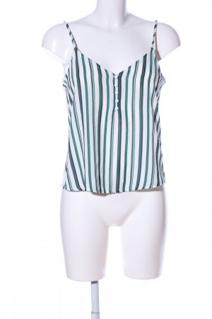 Tally Weijl Blusentop weiß-grün Streifenmuster Casual-Look