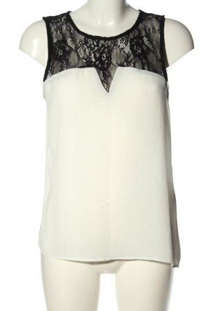 Tally Weijl Blouse topje wit-zwart casual uitstraling