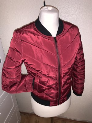 Tally Weijl Giacca bomber rosso scuro-nero