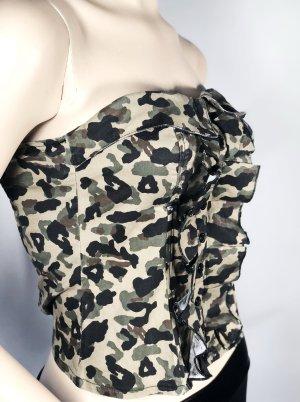 TALLY WEiJL Bustier Gr. 34 XS Camouflage Top Militär Uniform army