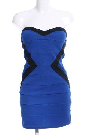 Tally Weijl Vestido bustier azul-negro estilo fiesta