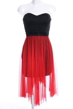 Tally Weijl Vestido bustier negro-rojo look efecto mojado