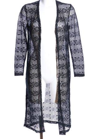 Tally Weijl Cardigan schwarz-weiß grafisches Muster Casual-Look