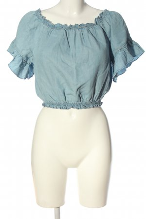 Tally Weijl Carmen blouse blauw casual uitstraling