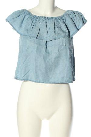 Tally Weijl Carmen-Bluse blau Casual-Look