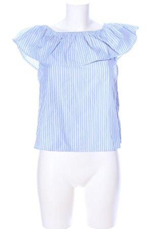 Tally Weijl Carmen-Bluse blau-weiß Allover-Druck Elegant