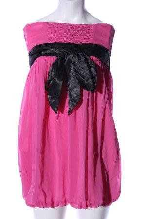 Tally Weijl Cocktailkleid pink-schwarz extravaganter Stil