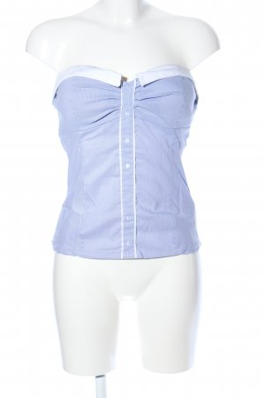 Tally Weijl Corsagen Top blau-weiß Casual-Look