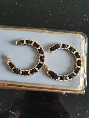 Tally Weijl Creolen gold schwarz ungetragen Ohrringedurchzieher