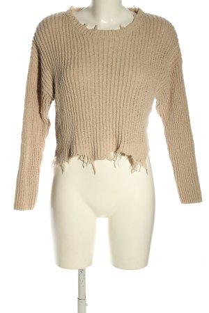 Tally Weijl Cropped Pullover wollweiß Street-Fashion-Look