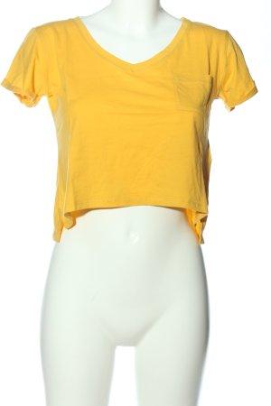 Tally Weijl T-shirt court jaune primevère style décontracté