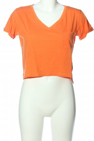 Tally Weijl T-shirt court orange clair style décontracté