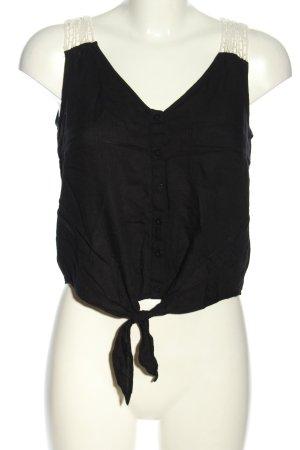 Tally Weijl Cropped Shirt schwarz-wollweiß Casual-Look