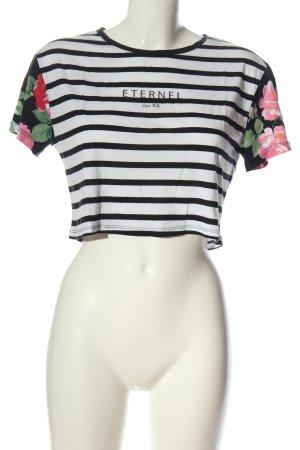 Tally Weijl Cropped Shirt flower pattern casual look