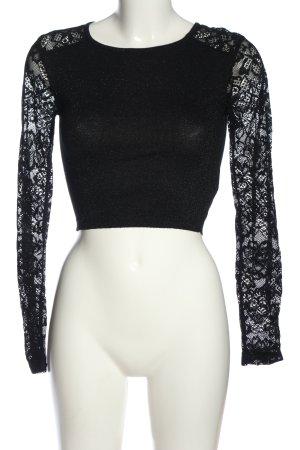 Tally Weijl Cropped shirt zwart elegant