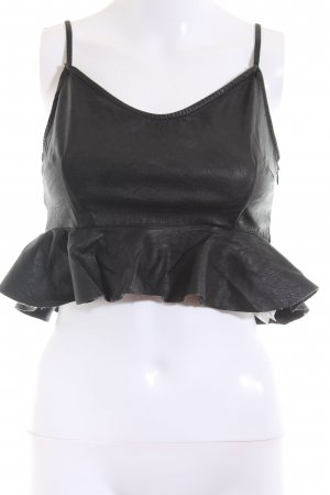 Tally Weijl Top recortado negro look casual