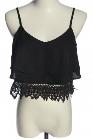 Tally Weijl Cropped Top schwarz Casual-Look
