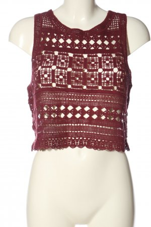Tally Weijl Cropped Top rot Casual-Look