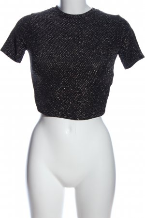 Tally Weijl Cropped Top schwarz meliert Glanz-Optik