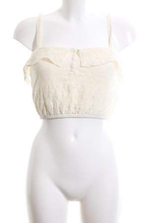 Tally Weijl Cropped Top creme Casual-Look