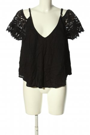 Tally Weijl Top cut out negro estilo extravagante