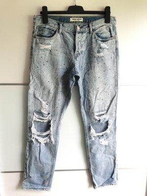 Tally Weijl • Destroyed Boyfriend Jeans • Strass