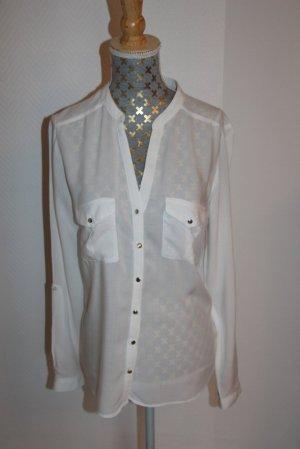 Tally Weijl elegante Bluse  Gr. S semitransparent