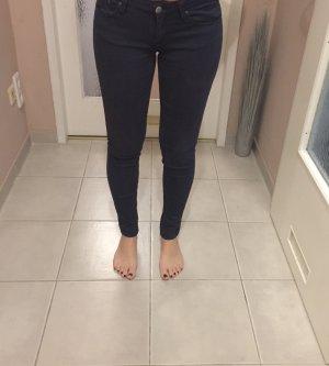 Tally Weijl Pantalon taille haute bleu foncé