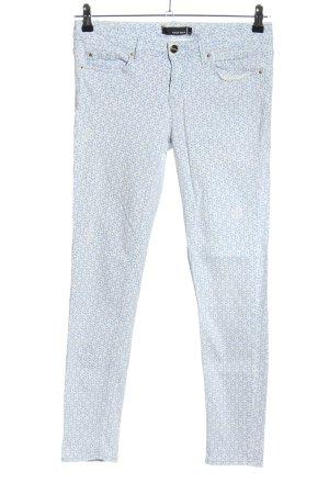 Tally Weijl Five-Pocket-Hose blau-weiß Allover-Druck Casual-Look